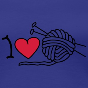 I love needlework T-skjorter - Premium T-skjorte for kvinner
