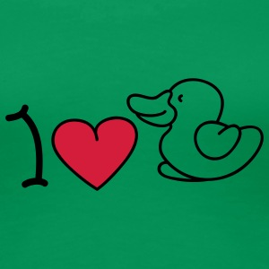 I love ducks T-shirts - Vrouwen Premium T-shirt