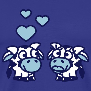 smiley_cows_in_love_3c T-Shirts - Männer Premium T-Shirt