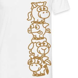 smiley_animal_stake_1c T-shirts - T-shirt Homme
