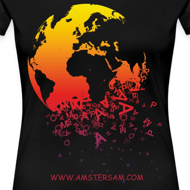 Women's Girlie Shirt 'The World' Black/Red
