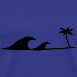 Waves on the Beach, waves on the beach under palm trees T-Shirts - Men's Premium T-Shirt