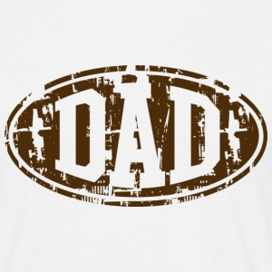 DAD Vintage Design T-Shirt Brown - Männer T-Shirt