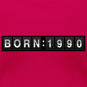 born1990 T-Shirts - Frauen Premium T-Shirt