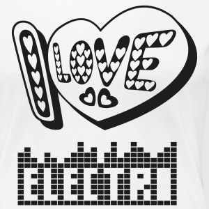 I LOVE ELECTRONICA MUSIC - Women's Premium T-Shirt
