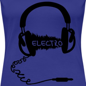 Headphones Audio Wave Motif: Electronic Music Electro  Audiophile   T-Shirts - Women's Premium T-Shirt