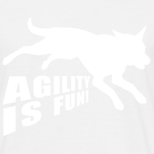 Agility is fun Hund - Männer T-Shirt