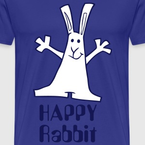 T-Shirt Mann Happy Rabbit 02 © by kally ART® - Männer Premium T-Shirt