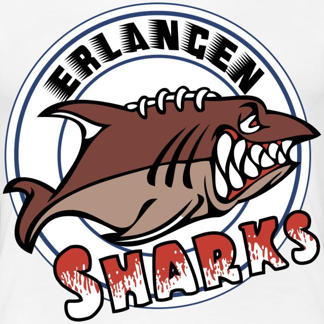 Erlangen Sharks Color Premium T-Shirt (w, weiß)