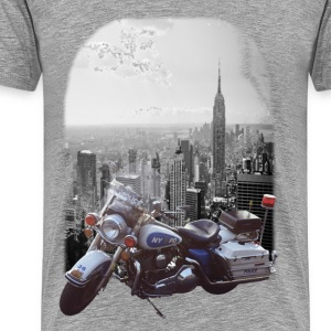 newyorkpolicemotorcicle T-Shirts - Männer Premium T-Shirt