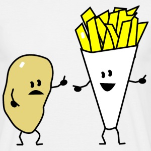 potato french fries T-shirts - T-shirt herr