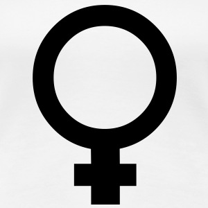 female Symbol - Frauen Premium T-Shirt