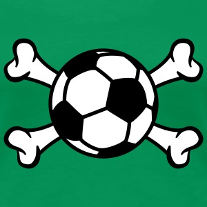 Ball and Bones | Fussball | Knochen T-Shirts - Premium-T-shirt dam