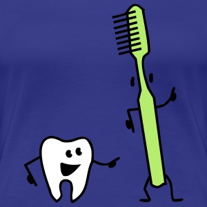 tooth and toothbrush T-Shirts - Women's Premium T-Shirt