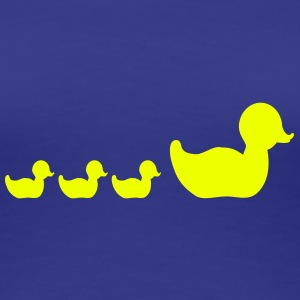 badeend familie / rubber duck family (1c) T-shirts - Vrouwen Premium T-shirt