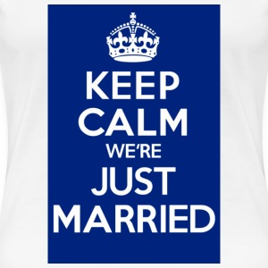 Just Married Blue - Women's Premium T-Shirt