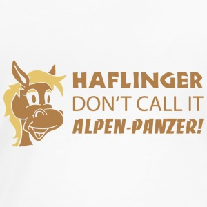 Haflinger don't call it Alpen-Panzer! T-Shirts - Frauen Premium T-Shirt