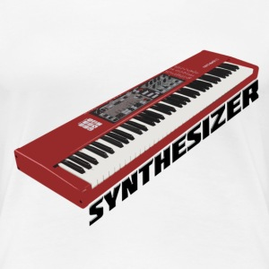 Synthesizer Electro Keyboard Design. T-Shirts - Frauen Premium T-Shirt