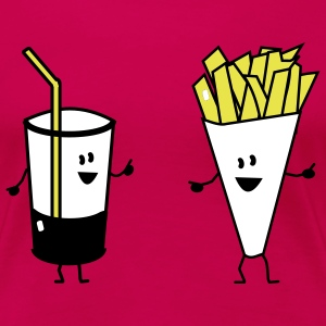 french fries drink T-shirts - Premium-T-shirt dam