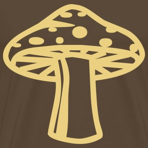 retro drugs shroom hippie seventies T-Shirts - Men's Premium T-Shirt