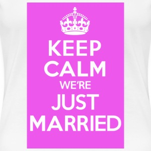 Just Married Pink - Women's Premium T-Shirt