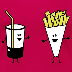 french fries drink T-Shirts - Frauen Premium T-Shirt