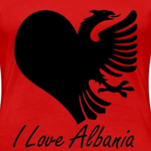 LoveAlbania_black T-Shirts - Frauen Premium T-Shirt