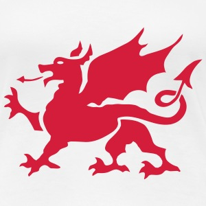Welsh Dragon  - Women's Premium T-Shirt
