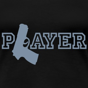 Player | Gun | Waffe T-Shirts - Frauen Premium T-Shirt
