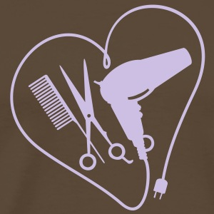 hart voor hairstyling / heart 4 hairstyling (1c) T-shirts - Mannen Premium T-shirt