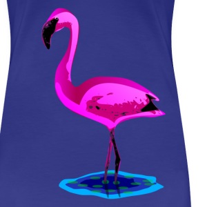 pink flamingo in water T-Shirts - Frauen Premium T-Shirt
