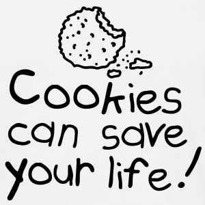 Cookies can save your life T-shirts - Herre-T-shirt