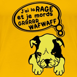 chien mechant attention a la rage Tee shirts - T-shirt Premium Femme