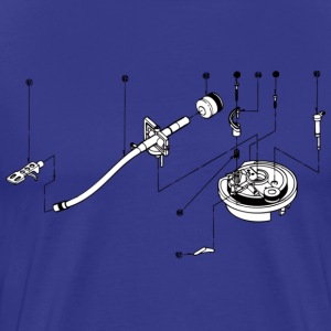 sl1200 exploded view T-shirts - Mannen Premium T-shirt