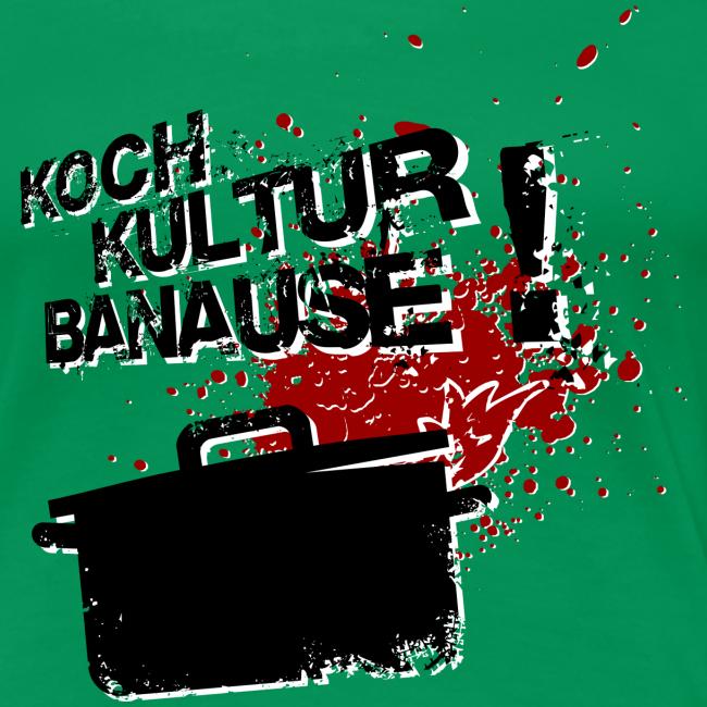 """damen übergrößen-shirt """"kochkulturbanause"""""""