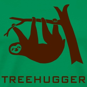 shirt sloth treehugging tree hugger trees forest nature hugg hugging - Men's Premium T-Shirt