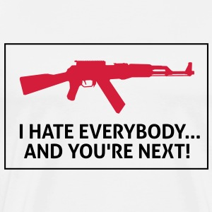 I Hate Everybody 2 (2c)++ T-shirt - Maglietta Premium da uomo