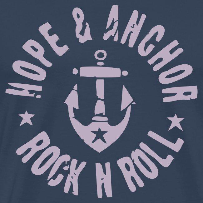 Hope and Anchor - Rock´n´Roll, blau/grau