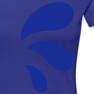 three curvy water blue droplets T-Shirts - Women's Premium T-Shirt