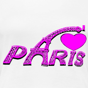 PARIS LOVE ROSE Tee shirts - T-shirt Premium Femme