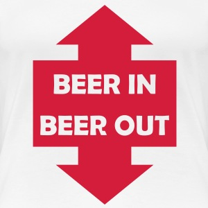 beer in beer out T-Shirts - Frauen Premium T-Shirt