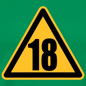 Warning 18 | Achtung 18 T-Shirts - Men's Premium T-Shirt