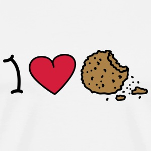 I love cookies T-shirts - Mannen Premium T-shirt