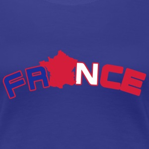 France, Freankreich, flag French flag and map T-Shirts - Women's Premium T-Shirt