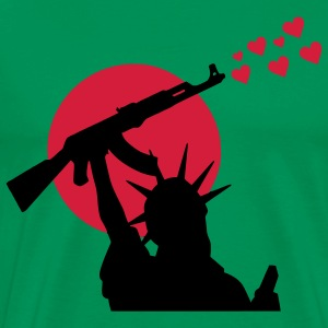 Statue of Liberty Statue of Liberty Ak-47 Weapon for Peace, War, War or Peace? T-Shirts - Men's Premium T-Shirt