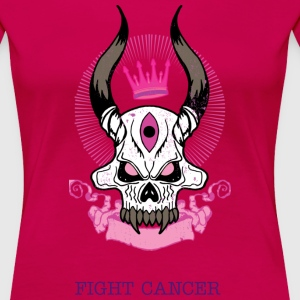 Fight Cancer - Dame premium T-shirt