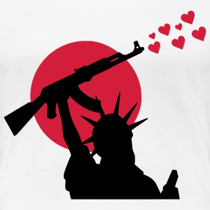 Statue of Liberty Statue of Liberty AK-47 våben for fred, krig, krig eller fred? T-shirts - Dame premium T-shirt