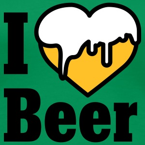 I love Beer | Heart | Beer T-Shirts - Premium T-skjorte for kvinner