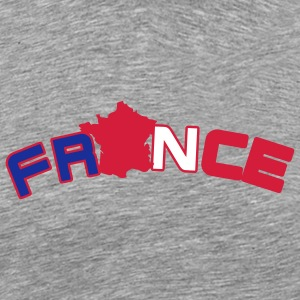 France, Freankreich, flag French flag and map T-Shirts - Men's Premium T-Shirt
