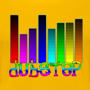 Dubstep Audipophiles equalizer design for musikere T-shirts - Dame premium T-shirt